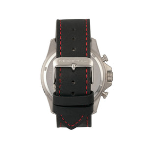 Morphic M57 Series Chronograph Leather-Band Watch - Silver/Black - MPH5701