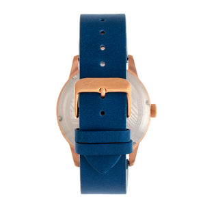 Morphic M77 Series Leather-Band Watch - Blue - MPH7705