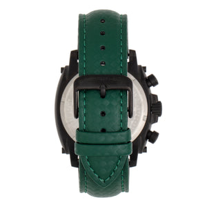 Morphic M83 Series Chronograph Leather-Band Watch w/ Date - Black/Green - MPH8307