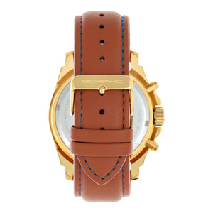 Morphic M73 Series Chronograph Leather-Band Watch - Gold/Blue - MPH7304