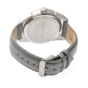 Morphic M63 Series Leather-Band Watch w/Date - Silver/Grey - MPH6303
