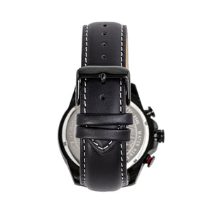 Morphic M88 Series Chronograph Leather-Band Watch w/Date - Black/Silver - MPH8804