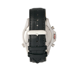 Morphic M36 Series Leather-Band Chronograph Watch - Silver/Charcoal - MPH3604