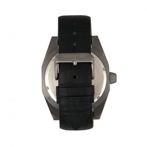 Morphic M46 Series Leather-Band Men's Watch w/Date - Black/Charcoal - MPH4605