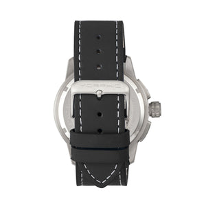 Morphic M61 Series Chronograph Leather-Band Watch w/Date - Silver/Black - MPH6101
