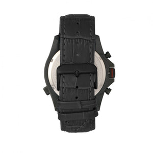 Morphic M36 Series Leather-Band Chronograph Watch - Black/Charcoal - MPH3607