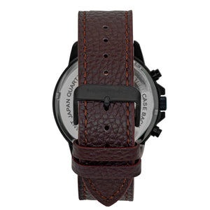Morphic M86 Series Chronograph Leather-Band Watch - Black/Dark Brown - MPH8607