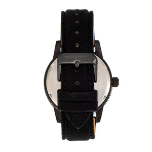 Morphic M85 Series Canvas-Overlaid Leather-Band Watch - Black - MPH8502