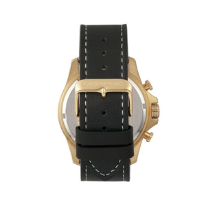 Morphic M57 Series Chronograph Leather-Band Watch - Gold/Black - MPH5703