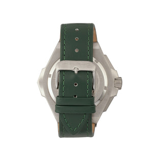 Morphic M55 Series Chronograph Leather-Band Watch w/Date - Silver/Green - MPH5502