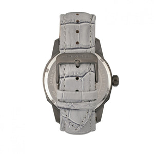 Morphic M56 Series Leather-Band Watch w/Date - Black/Grey - MPH5605