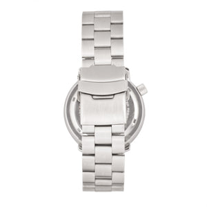 Morphic M74 Series Bracelet Watch w/Magnified Date Display - Gunmetal/Silver/Brown - MPH7402