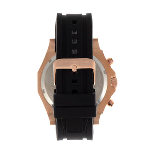 Morphic M75 Series Tachymeter Strap Watch w/Day/Date - Rose Gold/Black - MPH7505