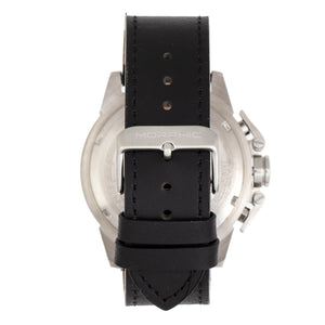 Morphic M81 Series Chronograph Leather-Band Watch w/Date - Black/Silver - MPH8101