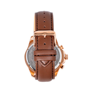 Morphic M88 Series Chronograph Leather-Band Watch w/Date - Brown/Rose Gold - MPH8803