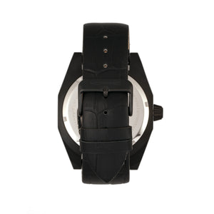 Morphic M46 Series Leather-Band Men's Watch w/Date - Black - MPH4604