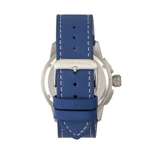 Morphic M61 Series Chronograph Leather-Band Watch w/Date - Silver/Blue - MPH6102