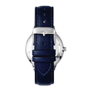 Morphic M65 Series Leather-Band Watch w/Day/Date - Blue - MPH6506