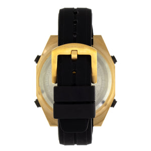 Morphic M76 Series Drum-Roll Strap Watch - Gold/Black - MPH7602
