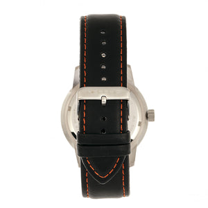 Morphic M71 Series Leather-Band Watch w/Date - Silver/Black - MPH7101