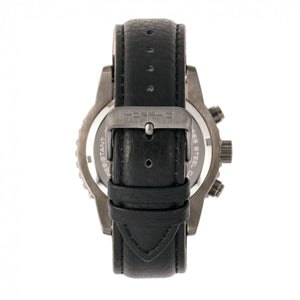 Morphic M67 Series Chronograph Leather-Band Watch w/Date - Gunmetal/Black - MPH6704