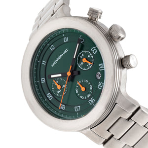 Morphic M78 Series Chronograph Bracelet Watch - Silver/Green - MPH7803