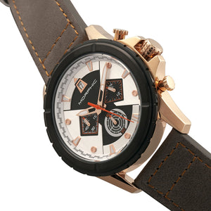Morphic M57 Series Chronograph Leather-Band Watch - Rose Gold/Grey - MPH5707