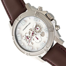 Load image into Gallery viewer, Morphic M73 Series Chronograph Leather-Band Watch - Silver - MPH7301