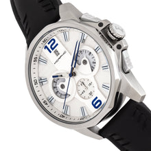 Load image into Gallery viewer, Morphic M82 Series Chronograph Leather-Band Watch w/Date - Silver/White - MPH8201