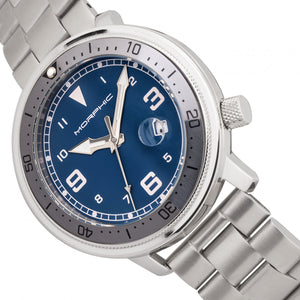 Morphic M74 Series Bracelet Watch w/Magnified Date Display - Gunmetal/Grey/Blue - MPH7404