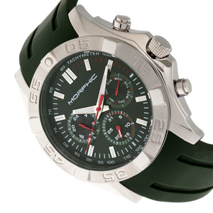 Morphic M75 Series Tachymeter Strap Watch w/Day/Date - Silver/Green - MPH7502