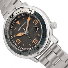 Load image into Gallery viewer, Morphic M74 Series Bracelet Watch w/Magnified Date Display - Gunmetal/Grey/Brown - MPH7403