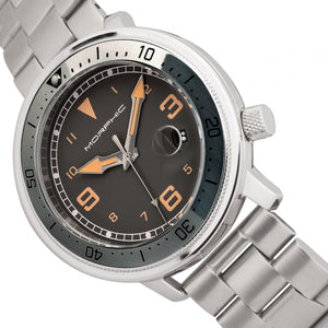 Morphic M74 Series Bracelet Watch w/Magnified Date Display - Gunmetal/Grey/Brown - MPH7403
