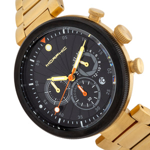 Morphic M87 Series Chronograph Bracelet Watch w/Date - Gold/Black - MPH8705