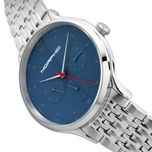 Morphic M65 Series Bracelet Watch w/Day/Date - Silver/Blue - MPH6503