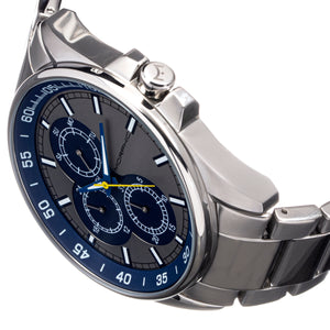 Morphic M92 Series Bracelet Watch w/Day/Date - Grey & Blue - MPH9207