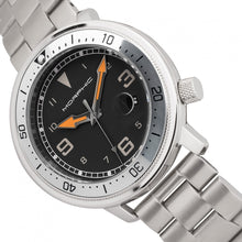 Load image into Gallery viewer, Morphic M74 Series Bracelet Watch w/Magnified Date Display - Gunmetal/Silver/Black - MPH7401