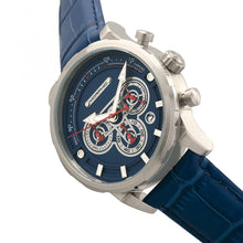 Load image into Gallery viewer, Morphic M60 Series Chronograph Leather-Band Watch w/Date - Silver/Blue - MPH6002