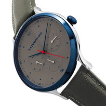 Load image into Gallery viewer, Morphic M65 Series Leather-Band Watch w/Day/Date - Grey - MPH6505