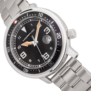 Morphic M74 Series Bracelet Watch w/Magnified Date Display - Gunmetal/Black & Silver/Black - MPH7405