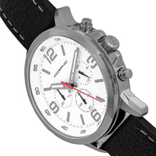 Load image into Gallery viewer, Morphic M86 Series Chronograph Leather-Band Watch - Silver/White - MPH8601