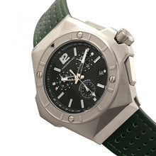 Load image into Gallery viewer, Morphic M55 Series Chronograph Leather-Band Watch w/Date - Silver/Green - MPH5502