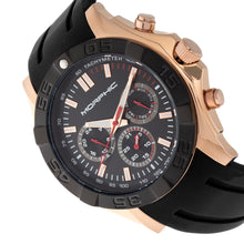 Load image into Gallery viewer, Morphic M75 Series Tachymeter Strap Watch w/Day/Date - Rose Gold/Black - MPH7505