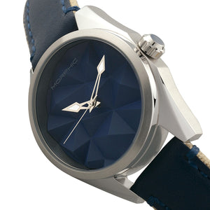 Morphic M59 Series Leather-Overlaid Canvas-Band Watch - Silver/Blue - MPH5903