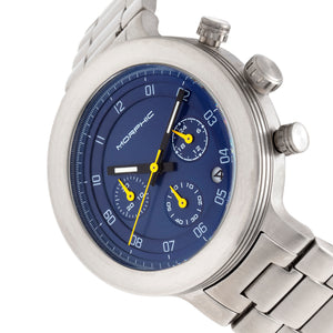 Morphic M78 Series Chronograph Bracelet Watch - Silver/Blue - MPH7804
