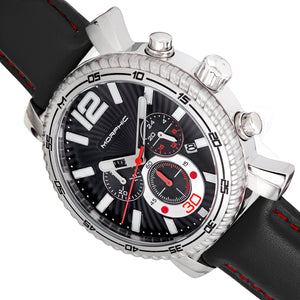 Morphic M89 Series Chronograph Leather-Band Watch w/Date - Black - MPH8902