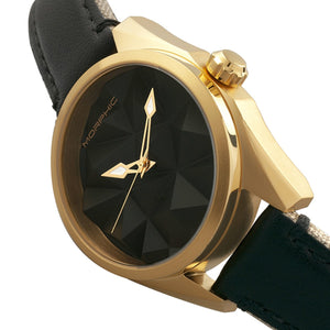 Morphic M59 Series Leather-Overlaid Canvas-Band Watch - Gold/Black - MPH5904