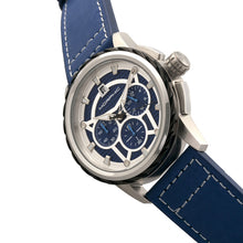 Load image into Gallery viewer, Morphic M61 Series Chronograph Leather-Band Watch w/Date - Silver/Blue - MPH6102