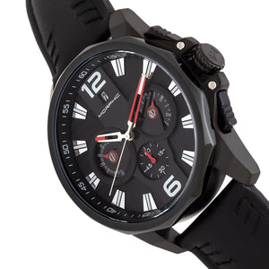 Morphic M82 Series Chronograph Leather-Band Watch w/Date - Black - MPH8205