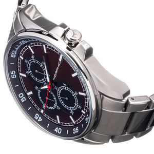 Morphic M92 Series Bracelet Watch w/Day/Date - Red & Black - MPH9205
